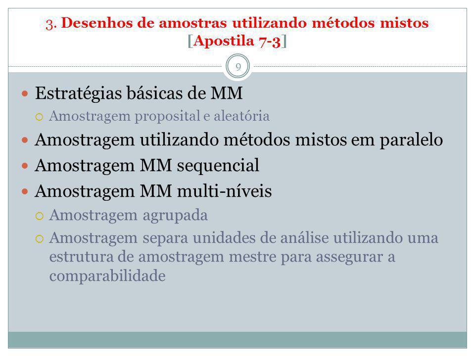 3. Desenhos de amostras utilizando métodos mistos [Apostila 7-3]